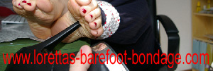 Lorettas Barefoot Bondage